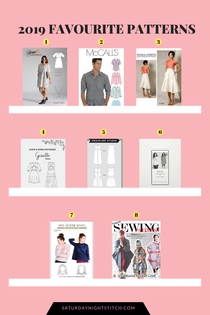 8 Best Sewing Patterns Of 2019 Saturday Night Stitch